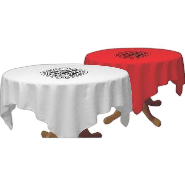 "Draped 30"" table throw"