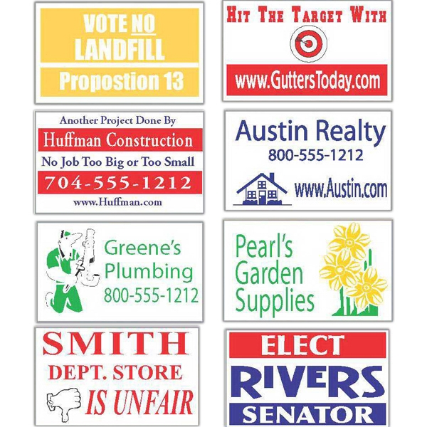 """12"""" x 18"""" lawn and site signs"""