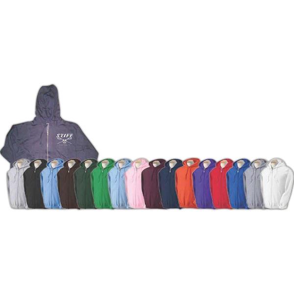 Hooded zippered sweatshirt