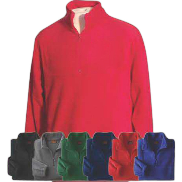 Harriton 8 oz Fleece Quarter-Zip Pullover