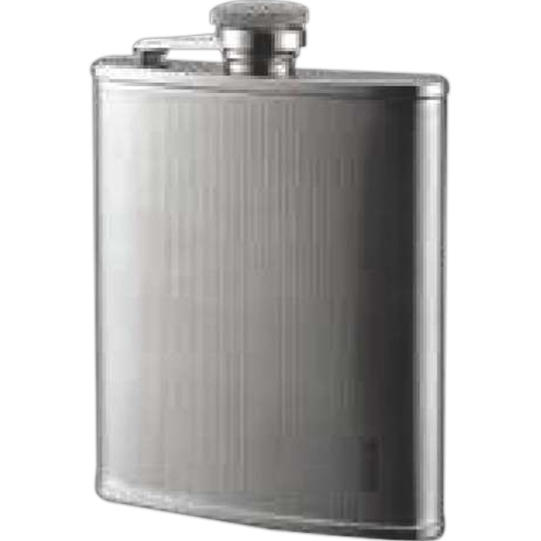 6 oz. Flask Small Checkered Pattern Stainless Steel Flask