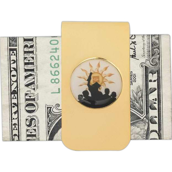 High Polished Nickel Or Gold Finish Money Clip Photo