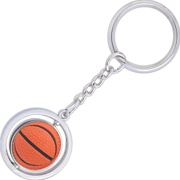 Basketball Spinning Key Tag Photo