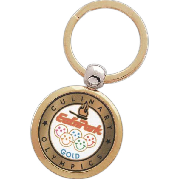 Circular Key Tag With Insert Photo