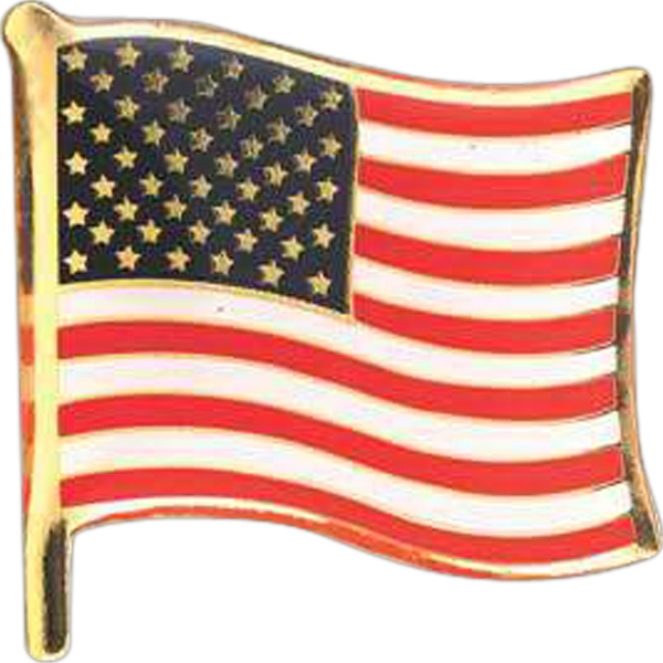 Flag Shape Pin Photo