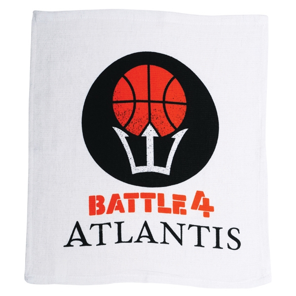 "The Ultimate Rally Towel - 7 Working Days - Flat Woven Hemmed Rally Towel, 15"" X 17"" Photo"