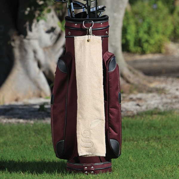 "3 Working Days - Bamboo Cotton Golf Towel. 16"" X 25"" Photo"