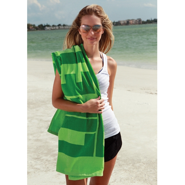 "Diamond Collection - 3 Working Days - Embroidery - Midweight Colored Beach Towel, 35"" X 60"" Photo"