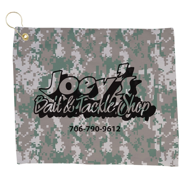 Camouflage - 7 Working Days - Ultra Soft Velour Small Camo Golf Towel Photo
