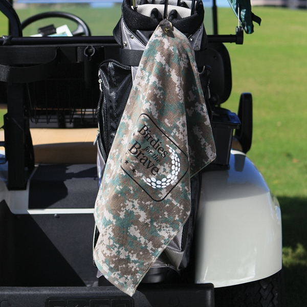 "Camouflage - 7 Working Days - Ultra Soft Cotton Golf Towel With Corner Grommet And Hook, 16"" X 25"" Photo"