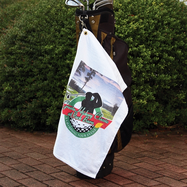 "Standard Print - White Golf Towel, 16"" X 25"" Photo"