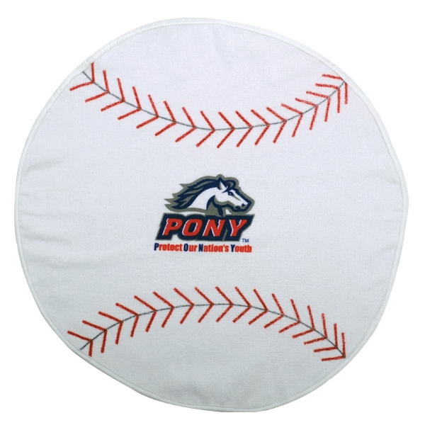 3 Working Days - Printed - Baseball - Sport Ball Towel With Stock Designs Photo