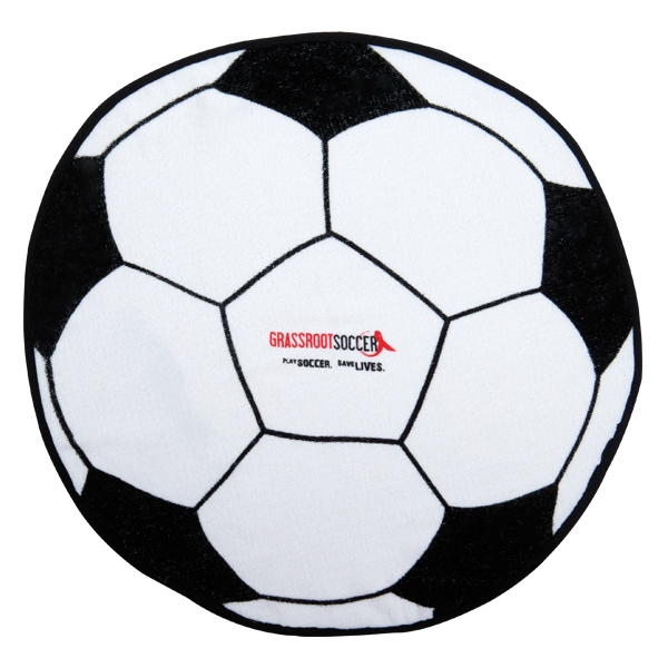 3 Working Days - Printed - Soccer Ball - Sport Ball Towel With Stock Designs Photo