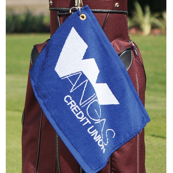"Custom Jacquard - Custom Woven Golf Towel, 11"" X 16"" Photo"