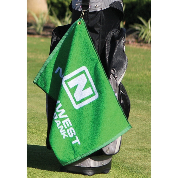 "Custom Jacquard - Golf Towel, Woven, 16"" X 24"" Photo"