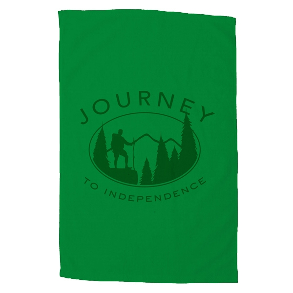 "Platinum Collection - 3 Working Days - Printed - Colored Cotton Terry Velour Sport Towel, 16"" X 25"" Photo"