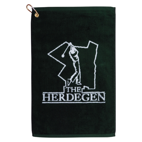 "Custom Jacquard - Golf Towel, Woven, 16"" X 24"", Quick Ship Photo"