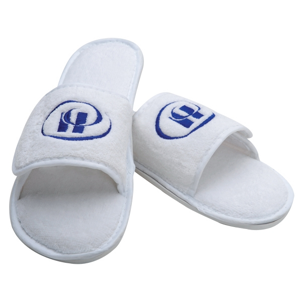 7 Working Days - Terry Velour Spa Slipper, White Photo