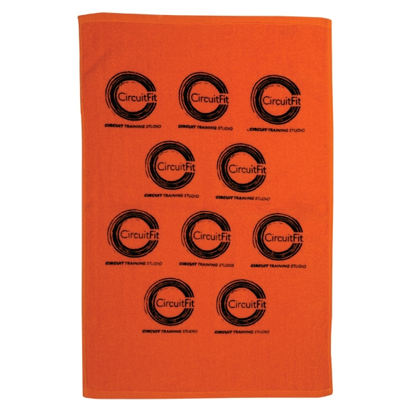 Jewel Collection - 3 Working Days - Printed - Terry Velour, Hemmed Lightweight Sport Cotton Towel Photo