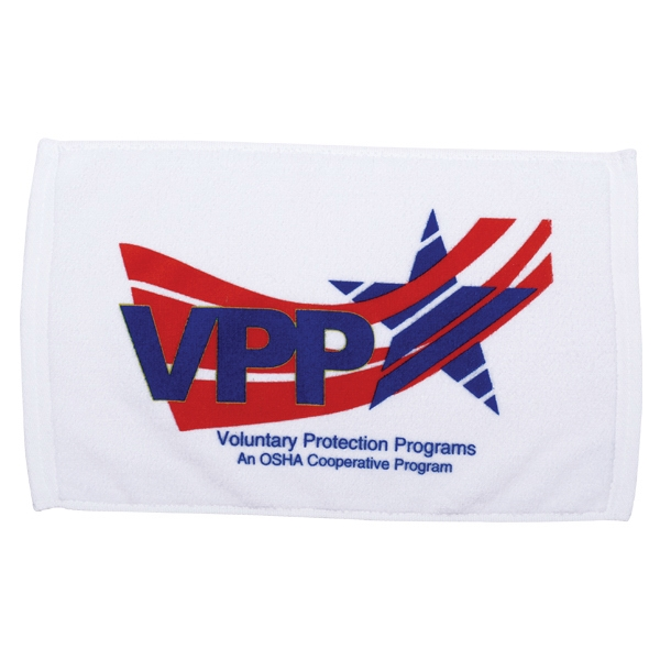 "Embroidery - Cotton Velour Rally Towel, 11"" X 18"" Photo"