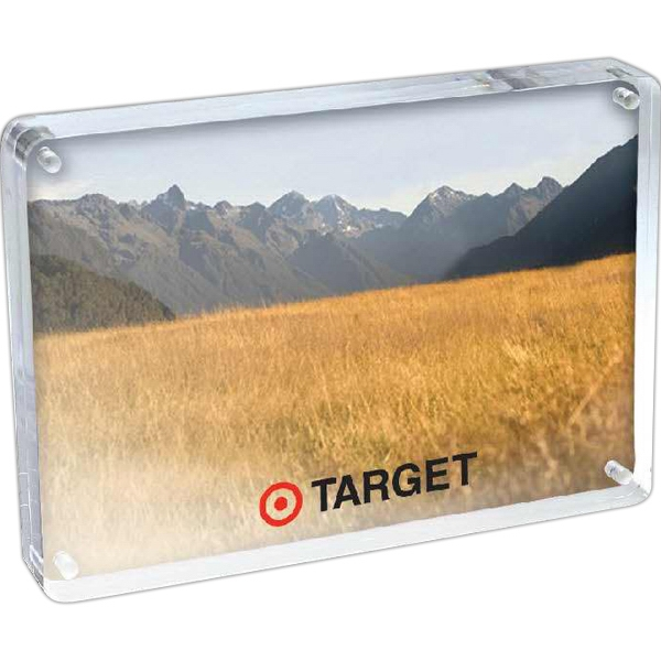 "3 1/2-inch x 5-inch Photo Frame - 3 1/2"" x 5"" magnetic clear acrylic photo frame that views from either side."