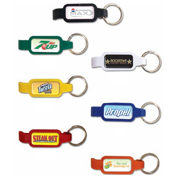 Bottle Opener Key Tag. Durable Epoxy Dome Protects The Message Photo