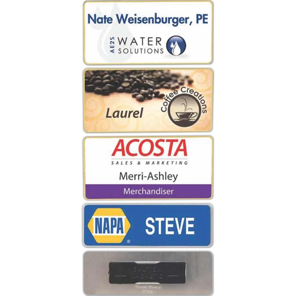 Name Badge With Clear Laminate Coating Photo