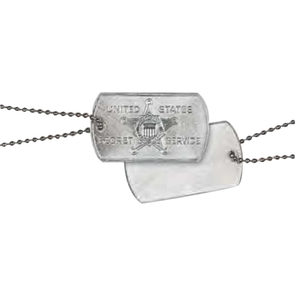 Dog Tag With Silver Tone Chain Photo
