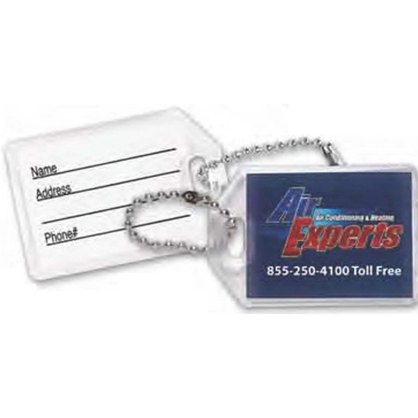 "Key Tag With Clear Acrylic Encasement, 13/8"" X 2 1/16"" Photo"