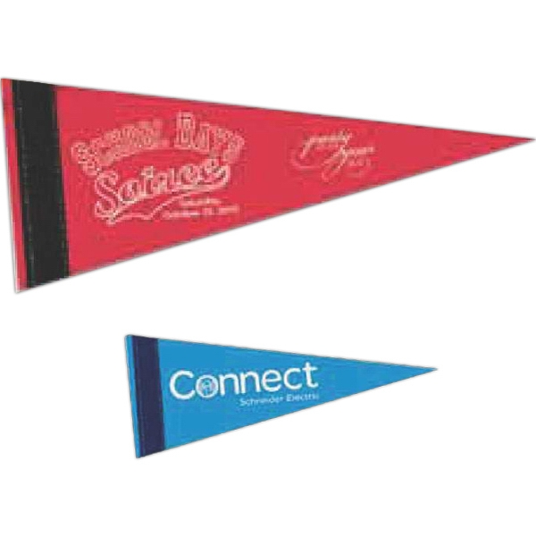 "Colored Felt Pennant With 1"" Sewn Strip Photo"