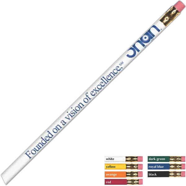 Foil Pencil Features 2-2 1/2 Lead, Brass Ferrule And Pink Eraser Photo