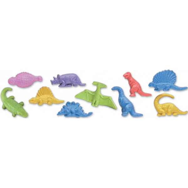 Junior Dinosaur Shape Erasers In 10 Styles Photo