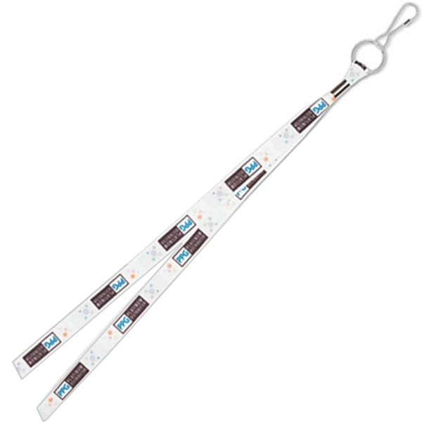 Full Color Lanyard Made Of Premium Satin Polyester With Metal Crimp Photo