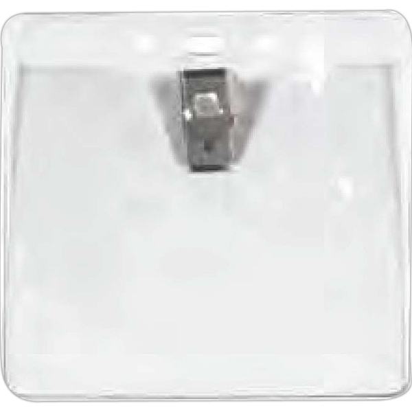 "Blank Badge Pouch With Bulldog Clip, Size 4 1/8"" X 3 7/8"" Photo"