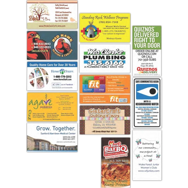 "Full Color Business Card Magnets, Size 2"" X 3 1/2"" Photo"
