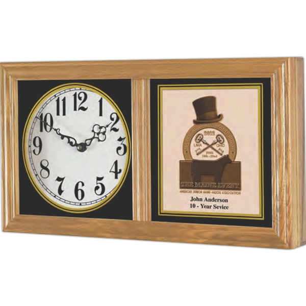 "Chesapeake Vertical/horizontal Wall Clock With Black Hand, 9"" H X 16 1/2"" W Photo"
