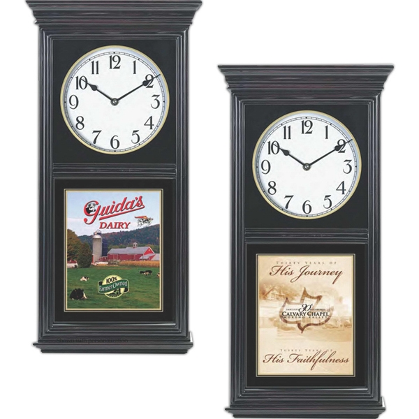 "Regulator Wall Clock, 12"" X 24"" Photo"