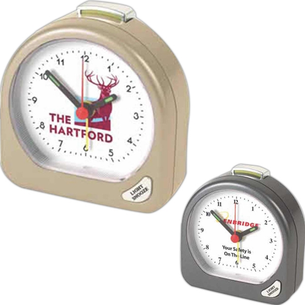 "Arch Shape Alarm Clock, 2 3/4"" W X 2 3/4"" H X 1"" D Photo"