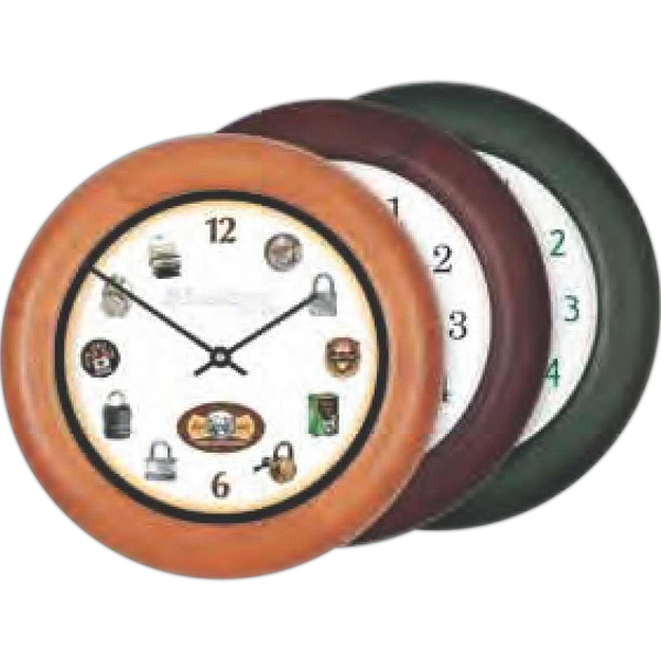 "Wood Wall Clock-12"" Diameter. Clearance. While Supply Lasts Photo"