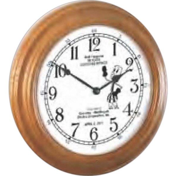 "Wood Wall Clock-16"" Diameter. Clearance. While Supply Lasts Photo"