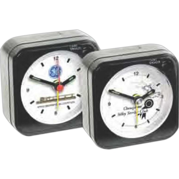 "Square Shape Alarm Clock, 2 1/4"" X 2 3/8"" X 1"". Clearance. While Supply Lasts Photo"