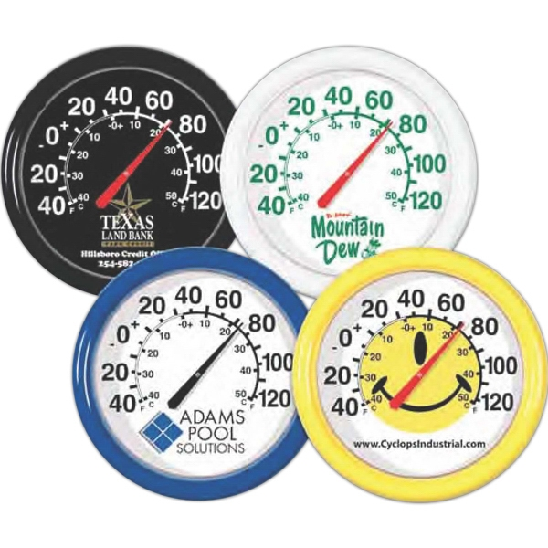 "Thermometer With Durable Polystyrene Case, 8 1/2"" Diameter Photo"