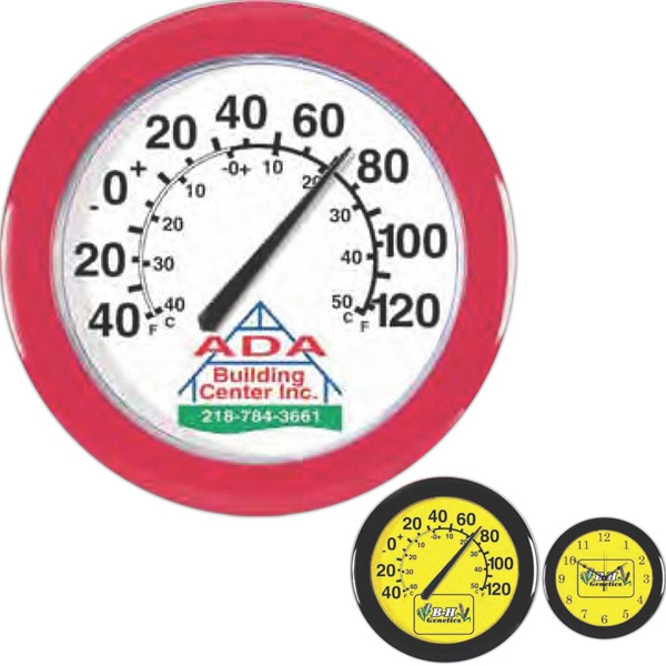 "Thermometer With Durable Polystyrene Case, 10 3/4"" Diameter Photo"