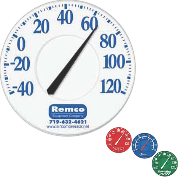"12"" In Diameter Outdoor Thermometer With Weather-resistant Polystyrene Back Photo"