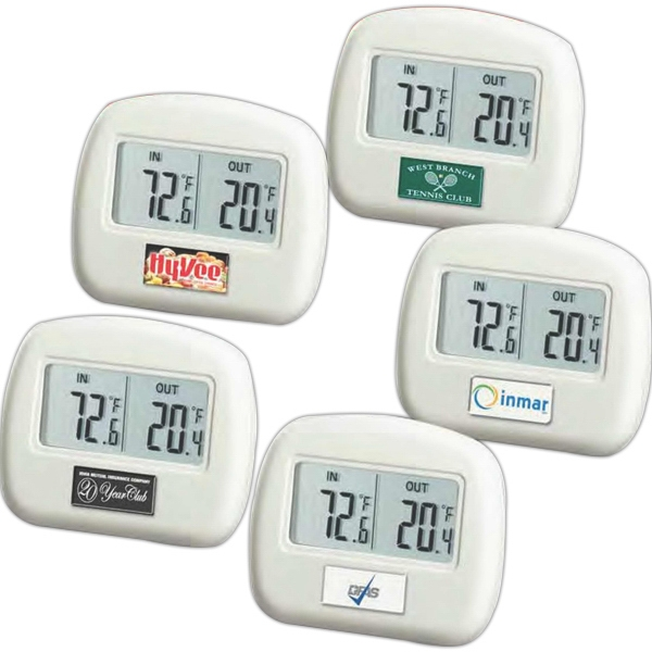 "Wireless Thermometer, 3"" W X 2 1/2"" H X 3"" D With Remote Sensor Photo"