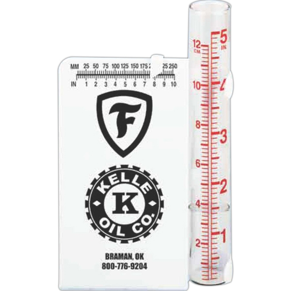 "Styrene Rain Gauge With Glass Vial, 3 1/2"" X 5 1/2"" Photo"