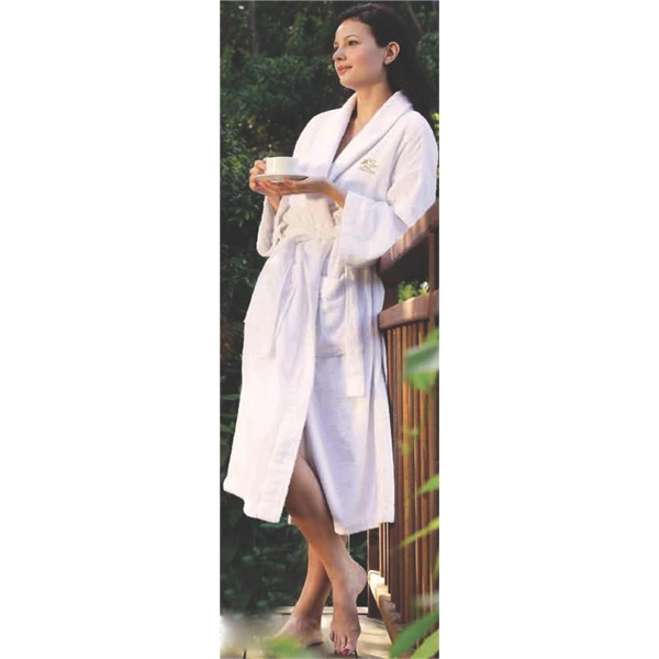 Terry Velour Bath Robe With A Kimono Style Collar Photo
