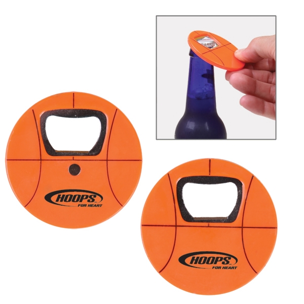 Plastic Bottle Opener Shaped Like A Basketball Photo