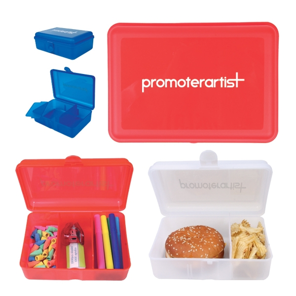 Pp Food Storage Box With Removable Dividers. Also May Be Used For Art Supplies Etc Photo