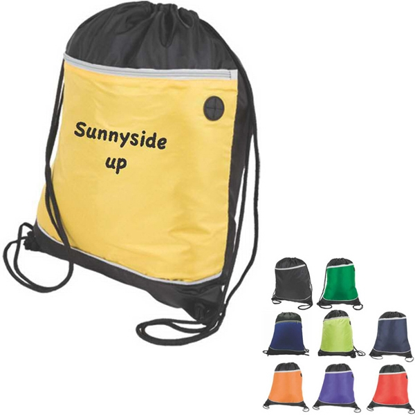 Two Tones Drawstring Backpack Made Of 210d Nylon Photo
